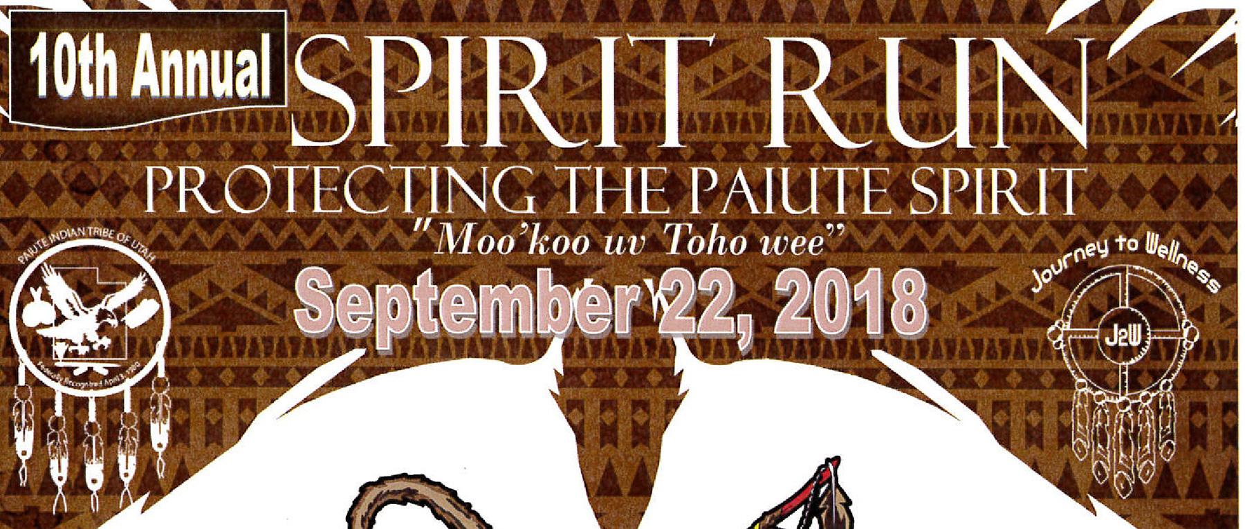 Paiute Spirit Run Sept. 22, 2018