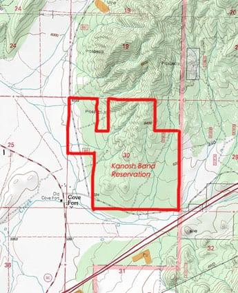 Kanosh Band Reservation Map 1