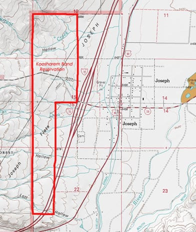 Koosharem Band Reservation Map 1