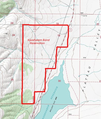 Koosharem Band Reservation Map 2